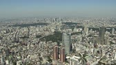 метро : Aerial photography around Roppongi Стоковые видеозаписи