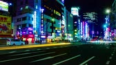 cultura japonesa : Night busy street at Ueno 4K time lapse