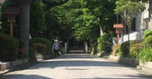 asian architecture : Shrine road in Shakujii Tokyo 4K Stock Footage