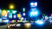 antiguidade : Neon street at night in Taipei time lapse 4K