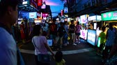 postoj : Night market at Taipei time lapse 4 K slow shutter