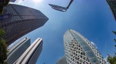 fast moving : Time lapse at the business buildings in West shinjuku Stock Footage