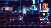 expozice : Rush street at the crossing in Shinjuku night time lapse Dostupné videozáznamy