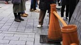 past : Walking people at old fashioned street in Gion Kyoto