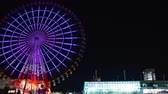 color wheel : Ferris wheel at night in Odaiba Tokyo time lapse