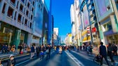 značky : A timelapse of the city street at the downtown in Ginza Tokyo daytime wide shot