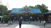 spirituality : Main temple at Hie shrine in Tokyo Stock Footage