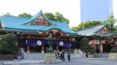 minato : Main temple at Hie shrine in Tokyo Stock Footage