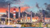 technology : Oil refinery, time lapse