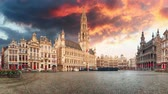Brussels at sunrise - Grand place, Belgium, Time lapse