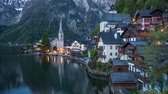 Time lapse - Alpine Hallstatt and lake Hallstatter See in Austria
