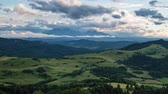 Timel lapse of summer landscape in mountains - Pieniny  Tatras, Slovakia