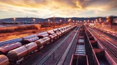 Time lapse of Train Freight transportation - Cargo transit Dostupné videozáznamy