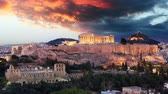 atina : Athens Time lapse - Acropolis at sunset, Greece