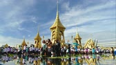 BANGKOK, THAILAND - NOVEMBER 24: Crowd of people visit The Royal Crematorium of His Majesty King Bhumibol Adulyadej at Sanam Luang, Bangkok , Thailand on November 24, 2017