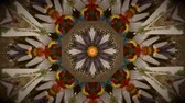 floral ornament : Vintage motion kaleidoscope background in warm tones for club, concert, music video, event, fashion, show or animation Stock Footage