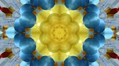 Abstract dynamic geometric kaleidoscope flower pattern background in chinese style Stok Video
