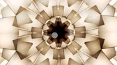 Abstract vintage motion symmetric kaleidoscope background with bokeh in warm tones for club, concert, music video, event, fashion, show or animation