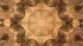 Abstract vintage motion symmetric kaleidoscope background in warm tones for club, concert, music video, event, fashion, show or animation