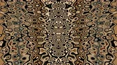 Psychedelic kaleidoscopic motion background of earth tone pattern