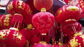 BANGKOK , THAILAND - DECEMBER 31 : Beautiful red chinese lantern and decoration items for sale on street of Chinatown market in Bangkoks Chinatown district on December 31, 2019 in Bangkok, Thailand