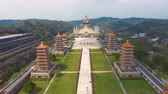 Aerial view of Buddha Memorial Hall. Taiwan Wideo