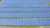 field : Aerial view of Solar Panels Farm