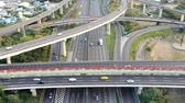 dálnice : Aerial view of Highway transportation system highway interchange at kaohsiung. Taiwan. Time lapse