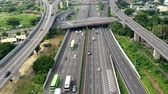 rotta : Aerial view of Highway transportation system highway interchange at kaohsiung. Taiwan. Time lapse