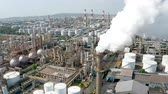hava : Aerial view oil and gas petrochemical industrial and Refinery factory