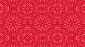 пики : red animated patterns. abstract kaleidoscope. 3d render