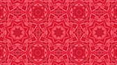 rohy : red animated patterns. abstract kaleidoscope. 3d render