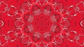 hvězda : red animated patterns. abstract kaleidoscope. 3d render