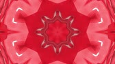 калейдоскоп : red animated patterns. abstract kaleidoscope. 3d render