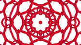 coin : Red three-dimensional kaleidoscope patterns. animated abstract. 3d render