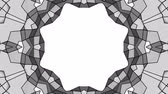 narożniki : black and white three-dimensional kaleidoscope patterns. animated abstract. 3d render Wideo