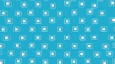 küpleri : white cubes surrounded by a frame slowly moving on a turquoise background. 3d render