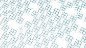 disappear : turquoise rectangles move slowly on a white . 3d render Stock Footage