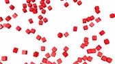 brillants : les cubes rouges se dispersent. Rendu 3d