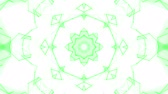 render : green animated abstract background. kaleidoscope. 3d render