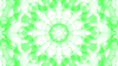arte : green animated abstract background. kaleidoscope. 3d render