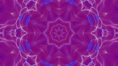 raya : red-blue animated patterns. abstract kaleidoscope. 3d render
