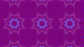 insolite : red-blue animated patterns. abstract kaleidoscope. 3d render