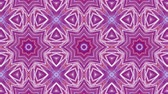 необычный : red-blue animated patterns. abstract kaleidoscope. 3d render