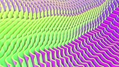 render : animated bright planes. abstract purple. 3d render Stok Video