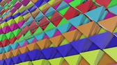 iridescente : animated colorful pyramids. Abstract rainbow. 3d render