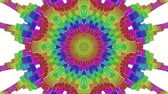 оказывать : multicolored abstract animated patterns. kaleidoscope. 3d render
