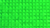 エッジ : rows of green pyramids slowly moving. abstract. 3d rendering