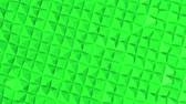 transporte : rows of green pyramids slowly moving. abstract. 3d rendering