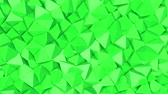 hajlik : rows of green pyramids slowly moving. abstract. 3d rendering